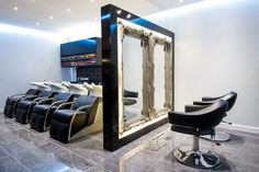 Guy Christian - Cardiff Bay. Bespoke Mirrors and The Lounge Chair and Backwash Units from Olymp UK  www.olymp.uk.com