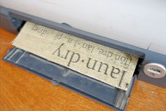 How to print on burlap ---oohh... I like this!