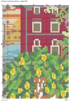 Firenze in cornice 12 Dream Catcher Boho, Cornice, Cross Stitch Designs, Beautiful Landscapes, Scenery, Detail, Projects, Outdoor, Crossstitch