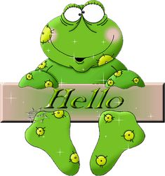 hanging on frog hello Hello Pictures, Frog Pictures, Cute Pictures, Eat The Frog, Frog And Toad, Funny Frogs, Cute Frogs, Animation, Frog Quotes