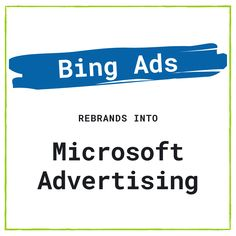 Bing Ads is now Microsoft Advertising. Learn what this rebrand means for the PPC platform.   #PPC #Bing #Microsoft #Advertising #DigitalMarketing #Marketing #SEM #Search Microsoft Advertising, Digital Marketing Channels, Google Ads, Inbound Marketing, Search Engine, Platform, Heel, Wedge, Heels
