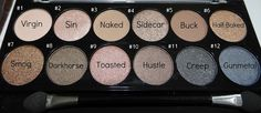Useful tagging of the MUA Undressed Palette as a Urban Decay Naked dupe... perfect for creating 'naked' eye tutorials