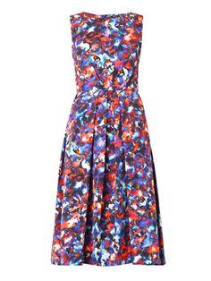 Lauren cosmic pansy-print dress | Saloni | MATCHESFASHION.COM