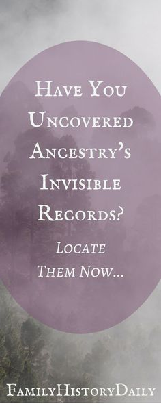 Uncovering Ancestry's 'invisible' records could boost your genealogy research and improve your family tree. (scheduled via http://www.tailwindapp.com?utm_source=pinterest&utm_medium=twpin)