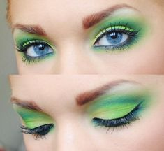 We love this two toned green eye shadow for blue eyes. Go to Beauty.com to find out what other products we love.