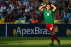 Andres Guardado durante el encuentro vs Italia