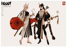Female Character Design, Character Design Inspiration, Character Concept, Character Art, Girls Characters, Fantasy Characters, Female Characters, Yakuza Girl, Urban Samurai