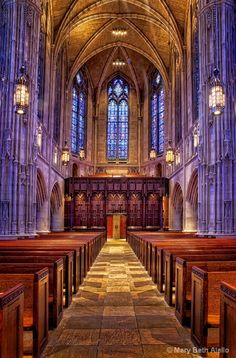 Heinz Chapel on Pitts Campus, Pittsburgh. So so beautiful. An absolutely fantastic place to hear a choir. The Gothic architecture and stained glass windows are stunning. And gey, it's also on my Alma mater's campus!