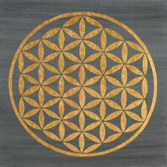 Flower of life. Mandalas Collection.  Mixed technique on wood.