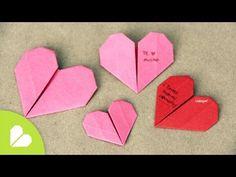 Corazones de Origami para San Valentin  //  Origami Heart