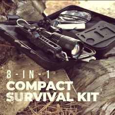 Everyday Carry Kit The Stealth Angel Survival Compact EDC Survival Kit Bushcraft Camping, Camping Survival, Camping Gear, Survival Tools, Survival Knife, Cool Survival Gear, Survival Videos, Survival Stuff, Real Madrid