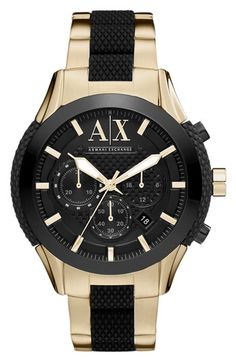 AX Armani Exchange Chronograph Bracelet Watch available at #Nordstrom