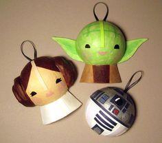 R2-D2, Leia y Yoda convertidos en adornos navideños