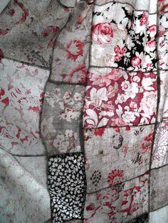 antique patchwork curtains