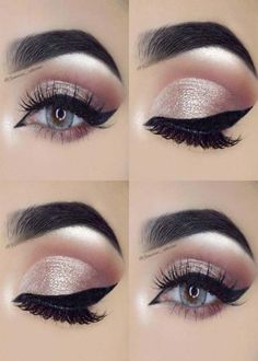 Pageant and Prom Makeup Inspiration. Find more beautiful makeup looks with Pagea. Pageant and Prom Makeup Inspiration. Find more beautiful makeup looks with Pageant Planet. Daily Eye Makeup, Everyday Eye Makeup, Smokey Eye Makeup, Glowy Makeup, Natural Makeup, Natural Beauty, Hair Makeup, Eyeliner Make-up, Silver Eyeliner