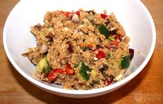 This is a great salad. Comes together really quickly too, since cous cous is so quick-cooking. Saltiness of the dates, plus the feta cheese = delicious! If you have the extra time, you could also substitute for QUINOA for Vegetarian Recipes, Healthy Recipes, Desert Recipes, Healthy Options, Summer Salads, Couscous, Soup And Salad, Fried Rice, Feta