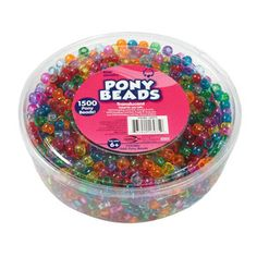 Online $4.97 Kids Craft Plastic Pony Beads, Translucent. For Suncatchers..Got it