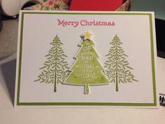 Stampin up peaceful pines & versatile Christmas