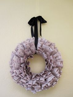 Tutorial: Upcycled Book Pages Wreath - Rae Gun Ramblings
