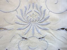 Linen Cutwork Scarf Doily by BonniesVintageAttic on Etsy, $34.95