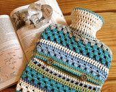 PATTERN - Crocheted Hot Water Bottle Cover