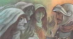 In his first encounter with the three witches, he has no clue what to make of their prophecy of his kingship.  He is reluctant to believe.  That is, until their predictions begin to come true, such as being crowned the Thane of Cawdor.