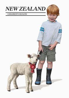NZ Child Health Illustration for Stamp - Santé des Enfants Health Activities, Kids Health, Health Quotes, Health And Safety, Illustration, Children, Coins, Stamps, Poster