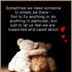 Yeah sometimes this does help but, it depends on how your being cared for