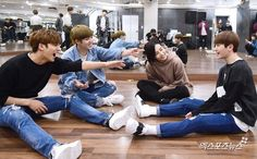 Jeonghan & Woozi with Mingyu, S.Coups