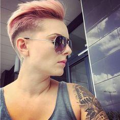 From @_xroseannebarberx_  Pixie, Mens Sunglasses, Hair, Fashion, Haircuts, Moda, Man Sunglasses, Fashion Styles, Men's Sunglasses