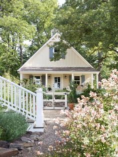 Charming little house near a wooded area via:Dreaming of a Home to Call Our Own