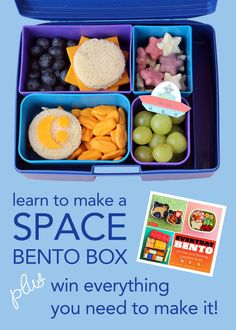 Learn to make a Space Bento Box - PLUS a giveaway for Everyday Bento and everything else you need to make it!