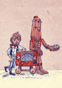 Han Solo & Chewbacca - Star Wars - Ralph Niese