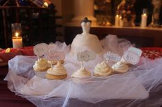 Bridal Shower cake/cupcake idea with the bridal party