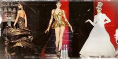 John Paul Gaultier Haute Couture FW 2013 - pieces inspired by the 1920's silent film, Metropolis.
