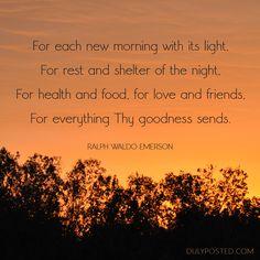 Ralph Waldo Emerson poem about gratitude