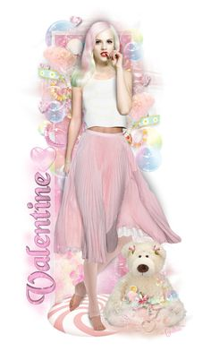 """""""~Bubbles & Bears~"""" by cindu12 ❤ liked on Polyvore featuring art"""