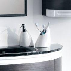 MISTRAL #bathroom #accessories #collection #design #ErvasBasilicoGirardi #dispenser #tumblert #ceramic #white #bathroomdesign