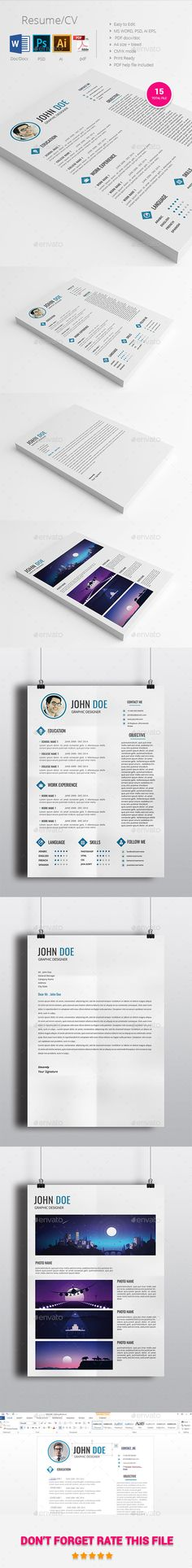 Resume \ CV Template #design Download: http://graphicriver.net/item/resumecv/12733808?ref=ksioks