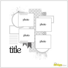 Four photo LO sketch. #scrapbooking #scrapbook #layouts #sketches #templates