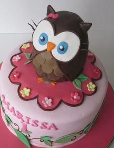 Owl Cake from Round House Cakes sandymcgonagle