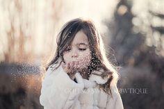 Blowing glitter =)