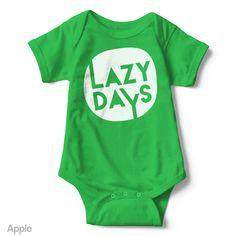 Lazy Days - Short Sleeve Infant Creeper