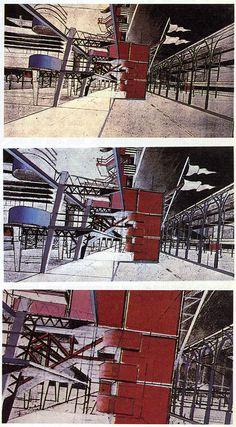 Bernard Tschumi. L'invention du parc. Graphite 1984: 27