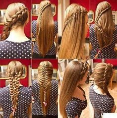 wish I had hair like this so I could do these different braids Pretty Hairstyles, Braided Hairstyles, Hairstyle Ideas, Amazing Hairstyles, Fashion Hairstyles, Creative Hairstyles, Elegant Hairstyles, Latest Hairstyles, Natural Hairstyles