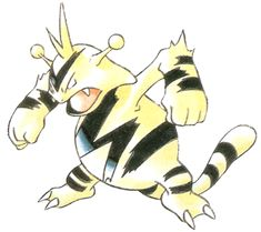 Electabuzz was one of my favourite Pokemon as a kid, not sure why, I think it was the unibrow