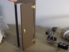 More Minis @ Blogspot: Dollhouse Door Hinging Guide