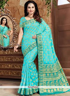 We offer huge collection of designer saree. Buy this art silk blue weaving work traditional designer saree. New Saree Designs, Indian Sarees Online, Designer Sarees Online, Latest Sarees, Indian Beauty Saree, Exclusive Collection, Belly Dance, Feminine, Traditional