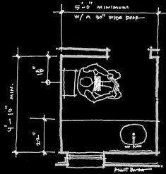 modern powder room plan