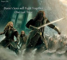 Durin's sons will fight together... one last time. #onelasttime *sobbing forever*
